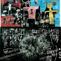 Jm Basquiat Black Tar And Feathers 1982