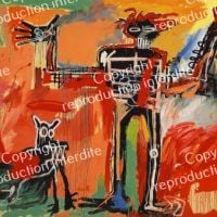 Jm Basquiat Boy And Dog In A Johnnypump 1982
