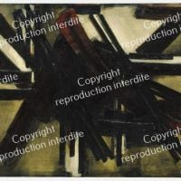 Pierre Soulages Painting October 10, 1952
