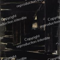 Pierre Soulages Painting 195 X 130 Cm September 1, 1957