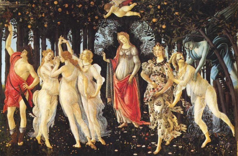 Tableaux sur toile, reproduction de Botticelli, Primavera - Allegory of spring