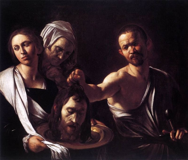 Tableaux sur toile, reproduction de Caravaggio, Salome With The Head Of St John The Baptist, 90x167cm