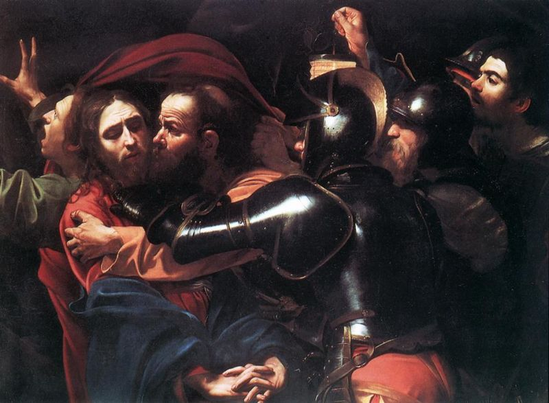 Tableaux sur toile, reproduction de Caravaggio, Taking Of Christ, 133x169cm