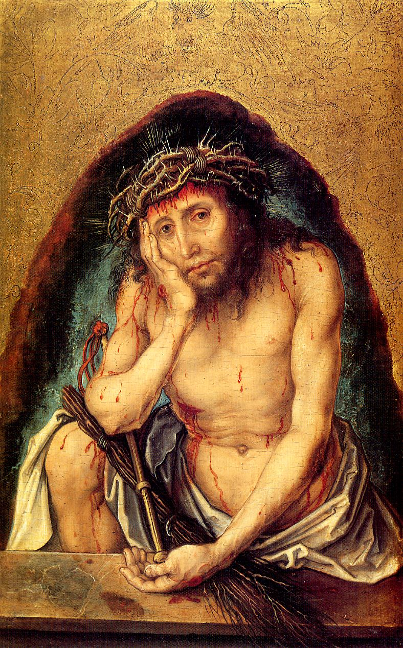 Tableaux sur toile, reproduction de Durer, Christ As The Man Of Sorrows, 30x19cm