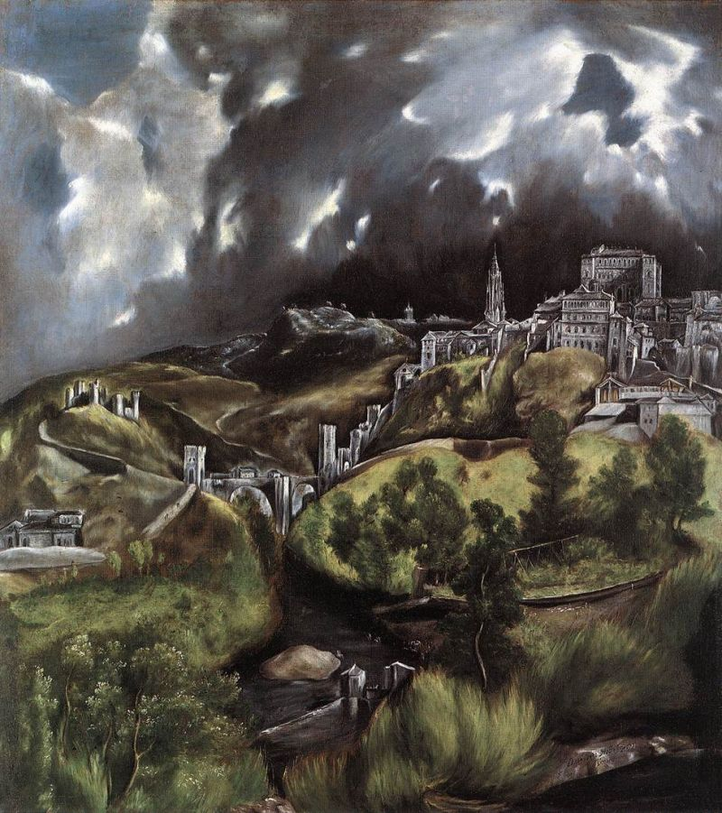 Tableaux sur toile, reproduction de El Greco, View Of Toledo, 121x108cm