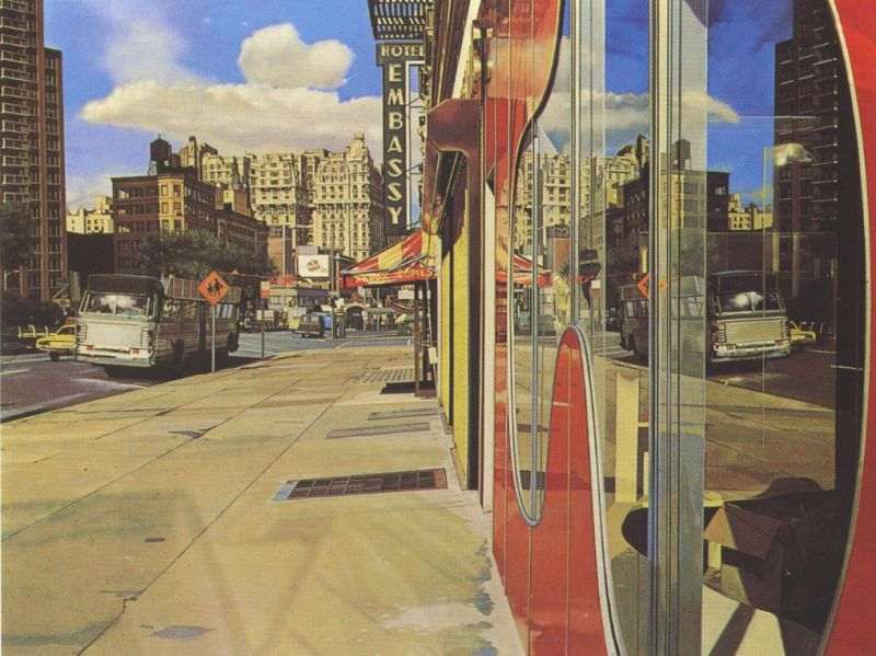 Tableaux sur toile, reproduction de Estes, Bus Reflections, 101x132cm