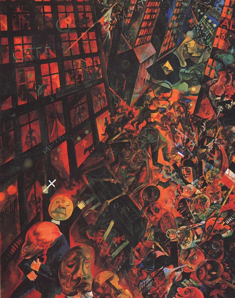 Tableaux sur toile, reproduction de Grosz, Dedication To Oskar Panizza, 140x109cm
