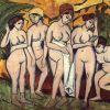 Kirchner, Five Bathers At The Lake, 150x200cm