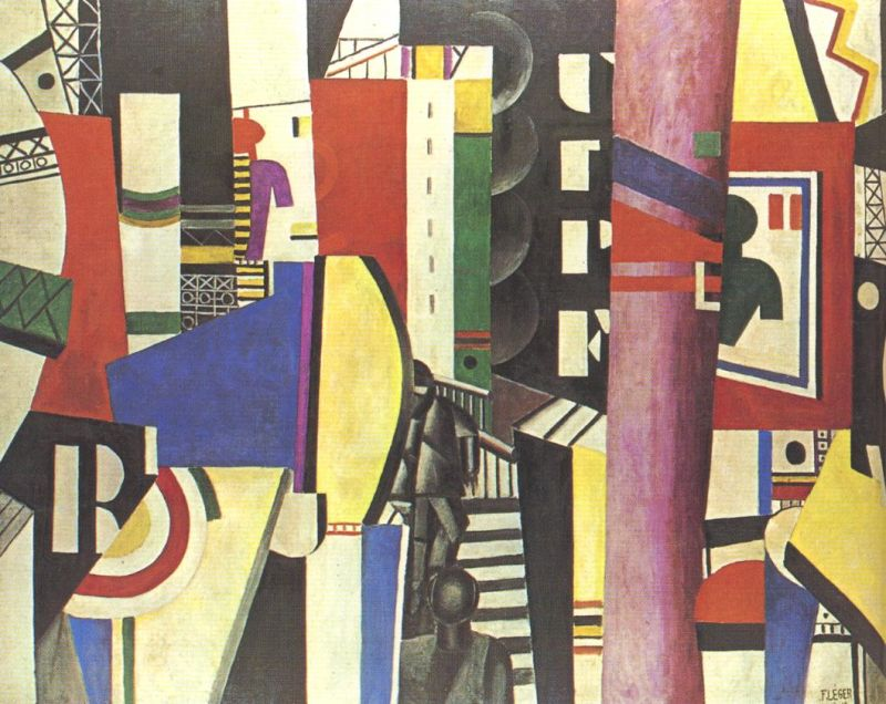 Tableaux sur toile, reproduction de Leger, The City, 230x300cm