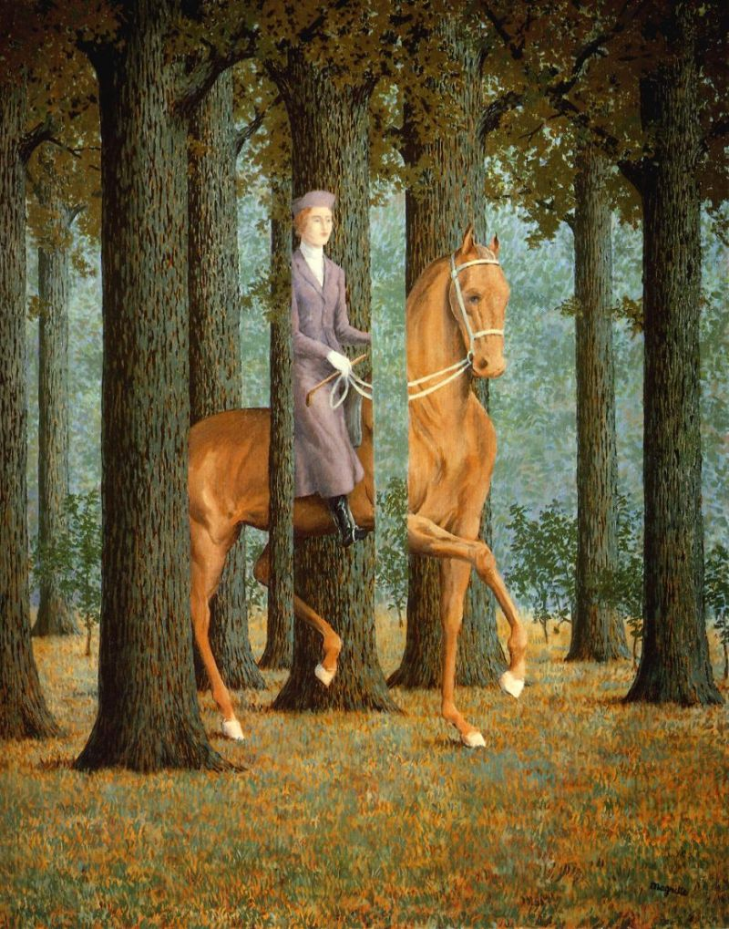 Tableaux sur toile, reproduction de Magritte, The blank check, 81x64cm