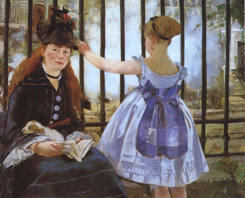 Tableaux sur toile, reproduction de Manet, The Railway Gare Saint Lazare, 92x114cm