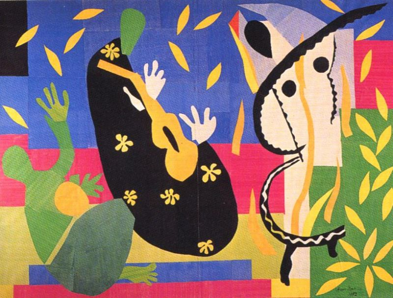 Tableaux sur toile, reproduction de Matisse, The Sorrows Of The King, 292x386cm