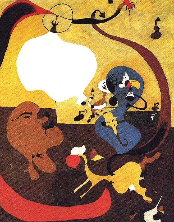 Tableaux sur toile, reproduction de Miro, Dutch Interior Ii, 92x73cm