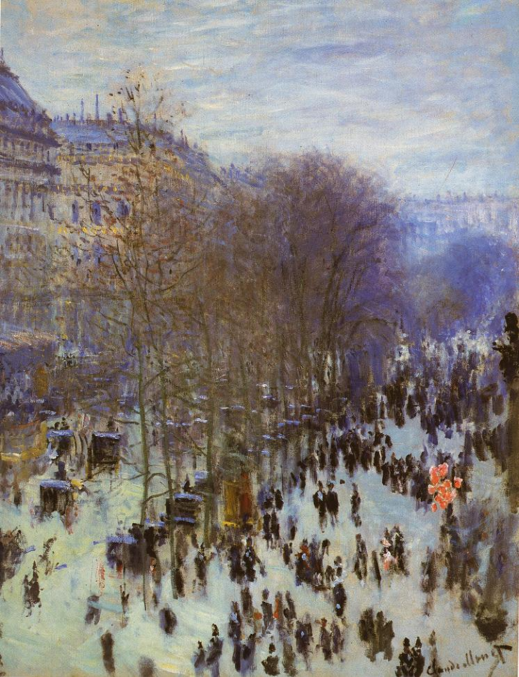 Tableaux sur toile, reproduction de Monet, The Boulevard Des Capucines, 79x59cm
