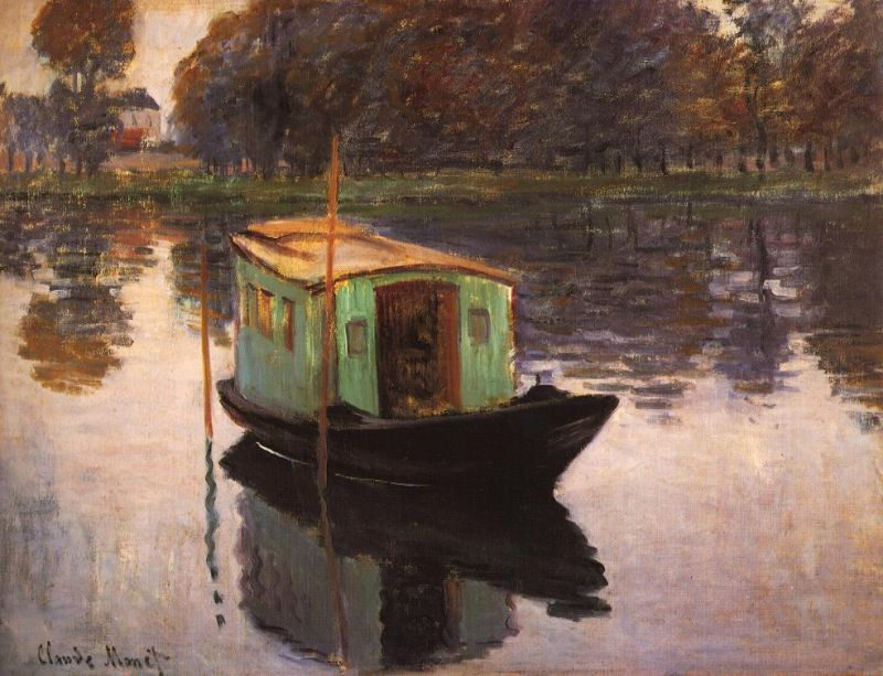 Tableaux sur toile, reproduction de Monet, The Studio Boat, 50x64cm