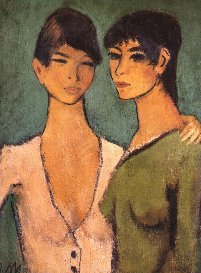 Tableaux sur toile, reproduction de Mueller, Two Sisters, 90x71cm