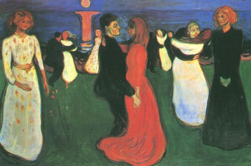 Tableaux sur toile, reproduction de Munch, The Dance Of Life, 125x190cm