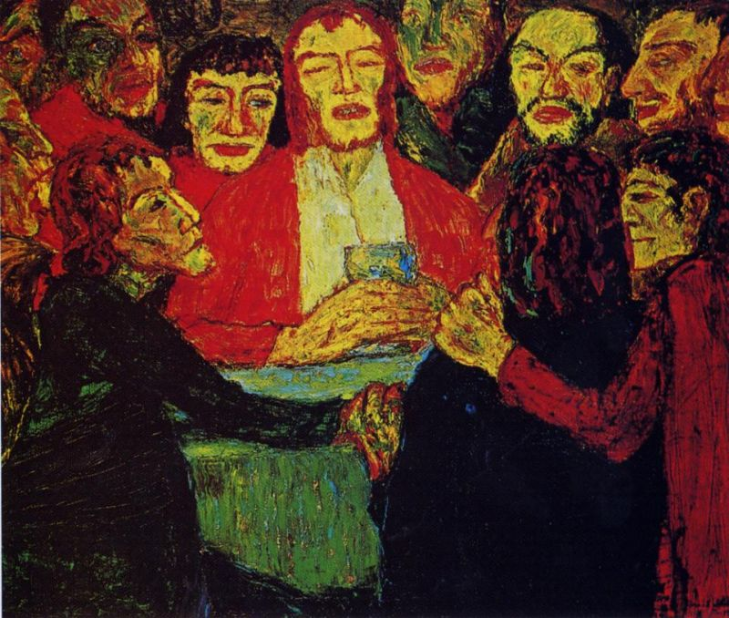 Tableaux sur toile, reproduction de Nolde, The Last Supper, 86x107cm