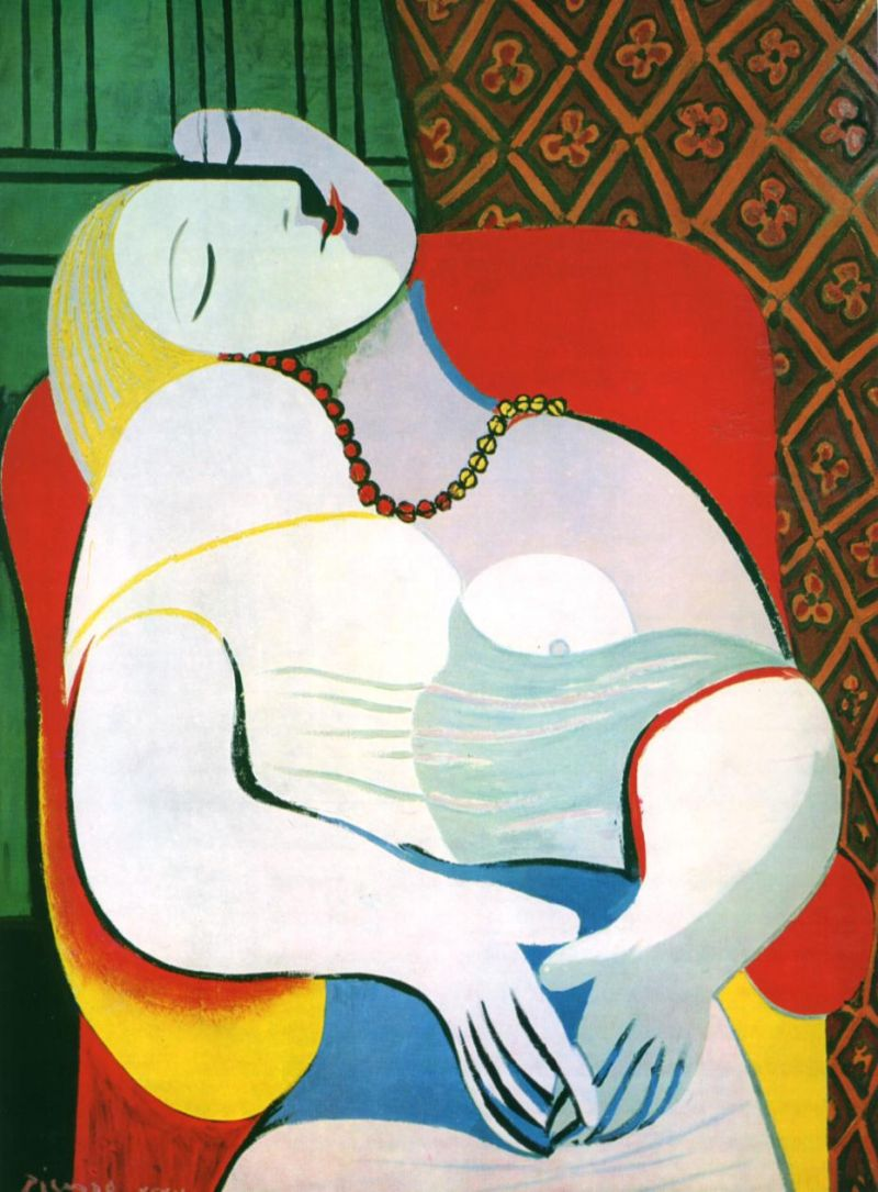 Tableaux sur toile, reproduction de Picasso ,The Dream, 51x38cm