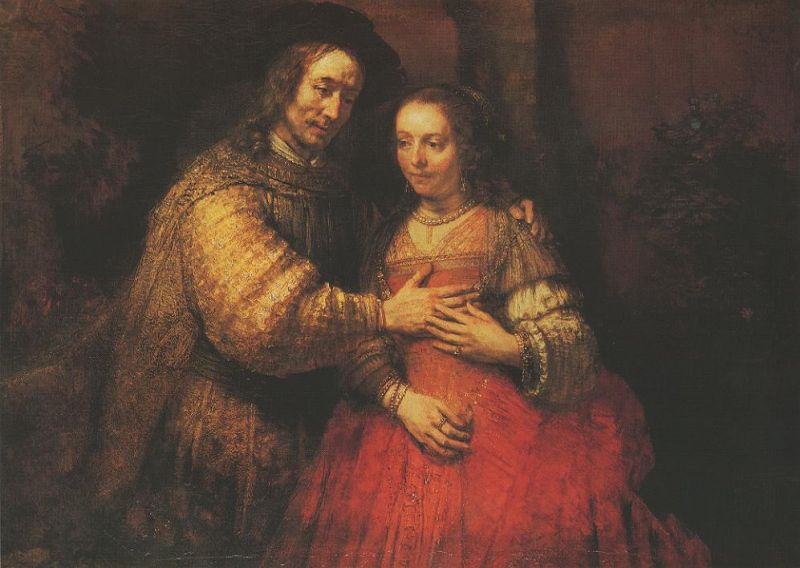 Tableaux sur toile, reproduction de Rembrandt, The Jewish Bride, 121x166cm