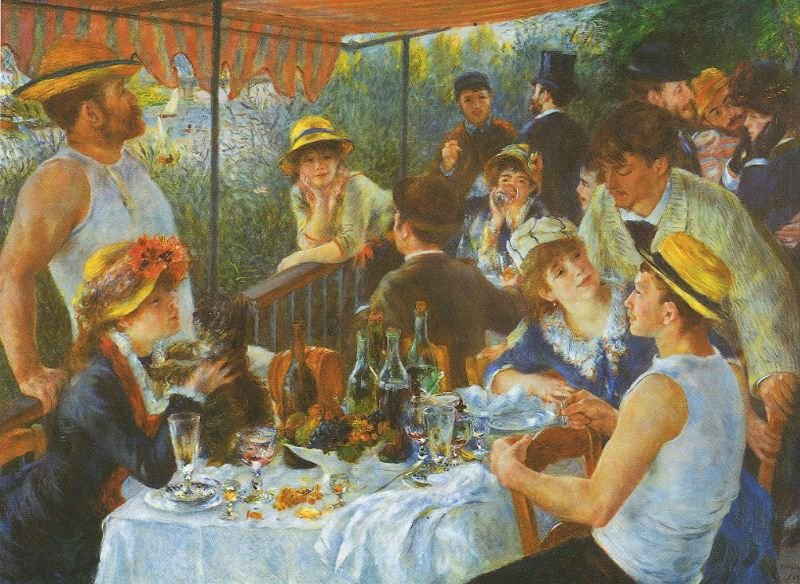 Tableaux sur toile, reproduction de Renoir, The Luncheon Of The Boating Party, 129x172cm