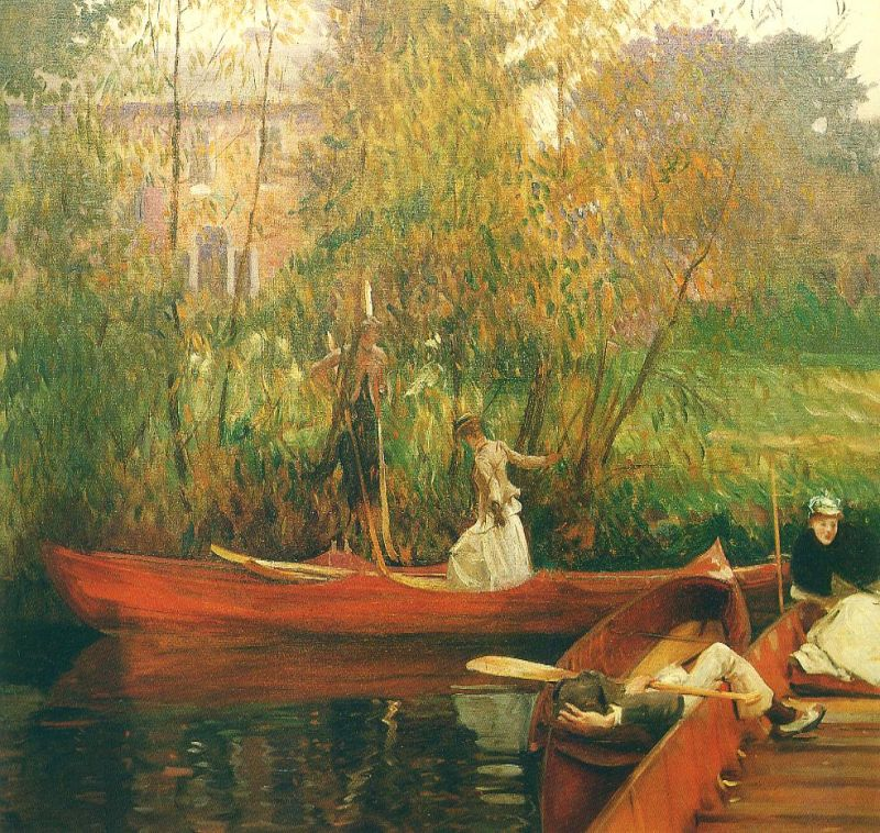 Tableaux sur toile, reproduction de Sargent, The Boating Party, 87x92cm