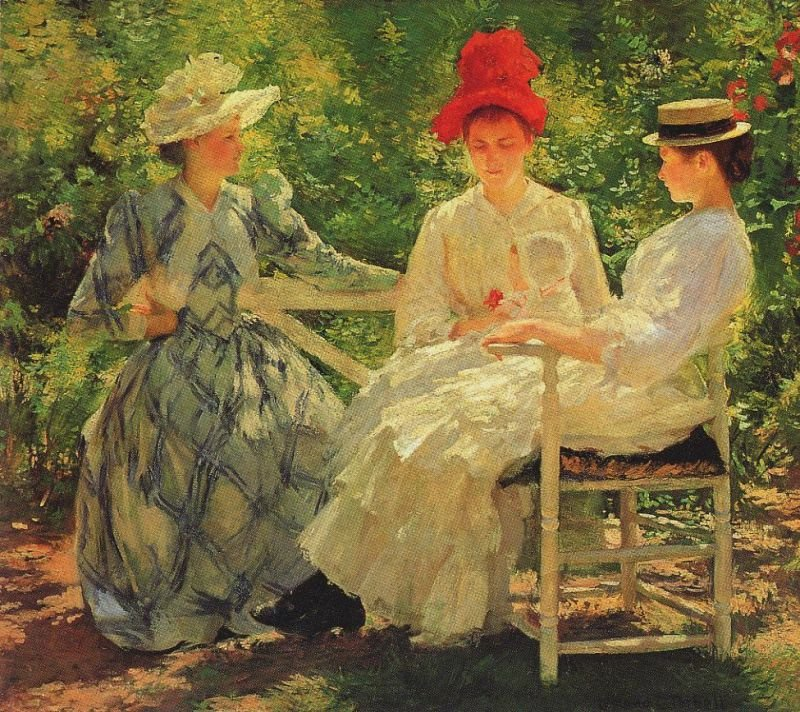 Tableaux sur toile, reproduction de Tarbell, Three Sisters, 89x102cm