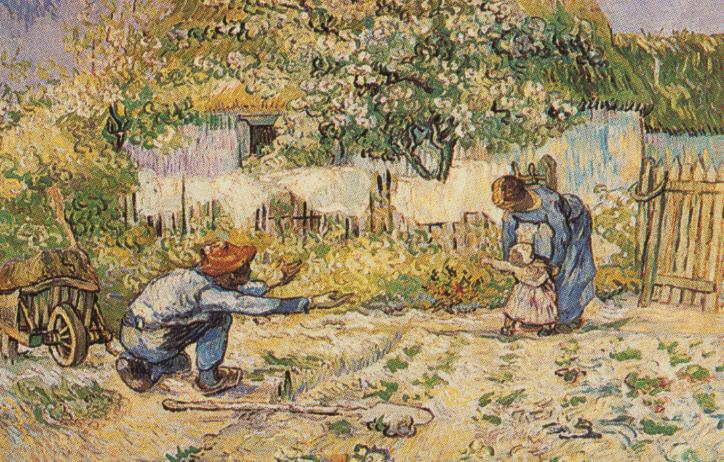 Tableaux sur toile, reproduction de Van Gogh, First Steps