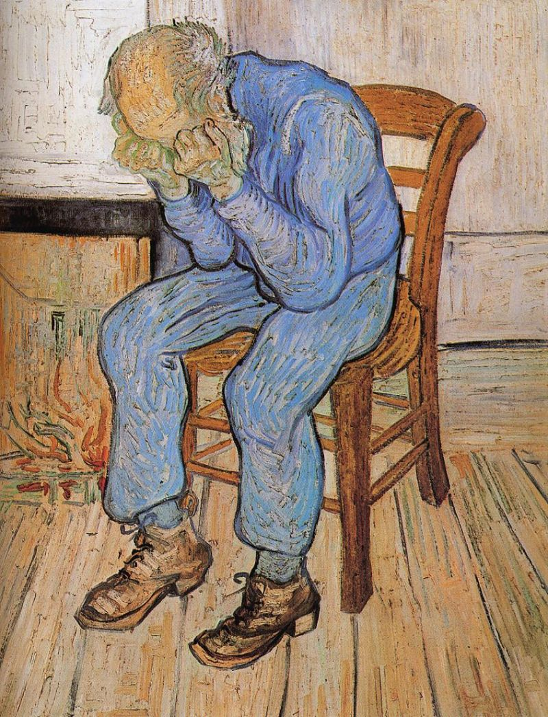 Tableaux sur toile, reproduction de Van Gogh, Old Man In Sorrow, 81x65cm