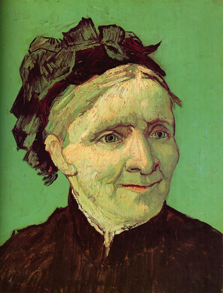 Tableaux sur toile, reproduction de Van Gogh, Portrait Of Van Gogh's Mother, 40x32cm