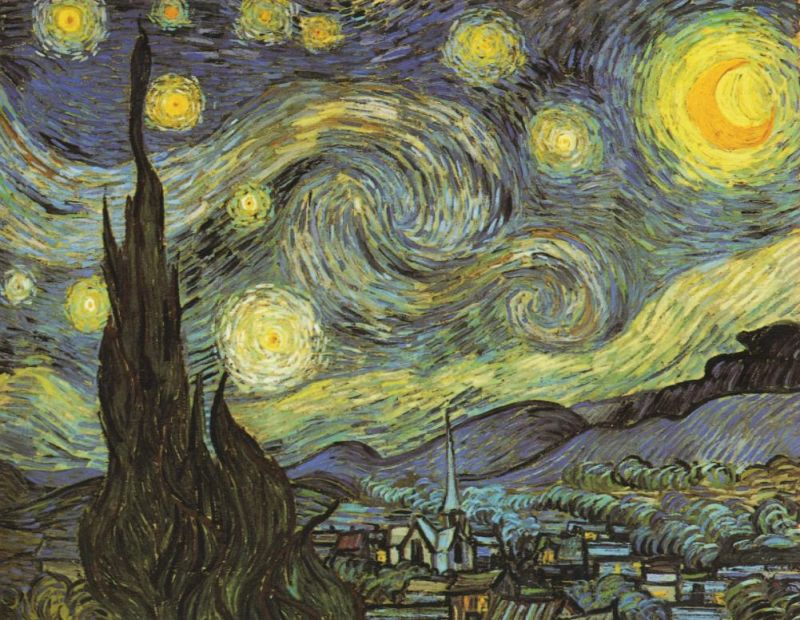 Tableaux sur toile, reproduction de Van Gogh, Starry Night, 73x92cm