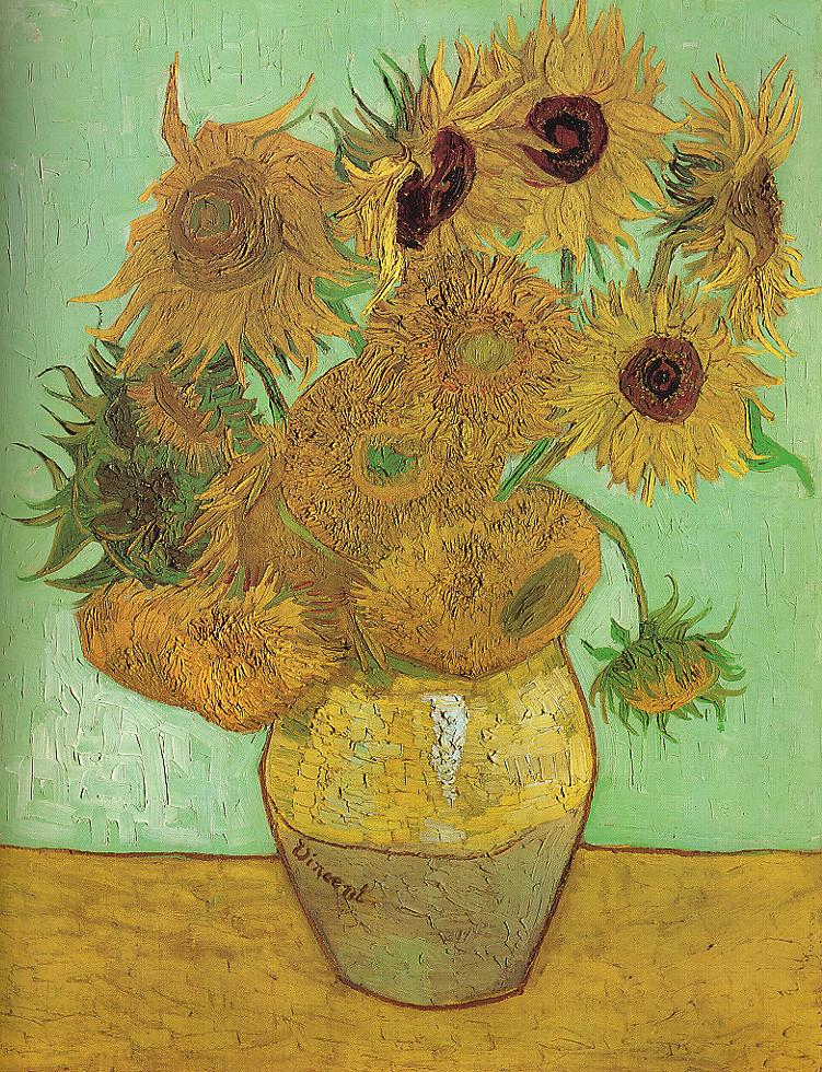 Tableaux sur toile, reproduction de Van Gogh, Vase With Twelve Sunflowers, 91x72cm