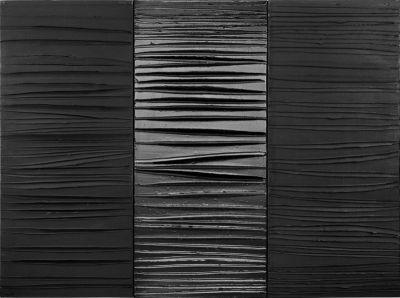 Pierre Soulages, Peinture 181 x 244 cm, 25 février 2009, triptyque