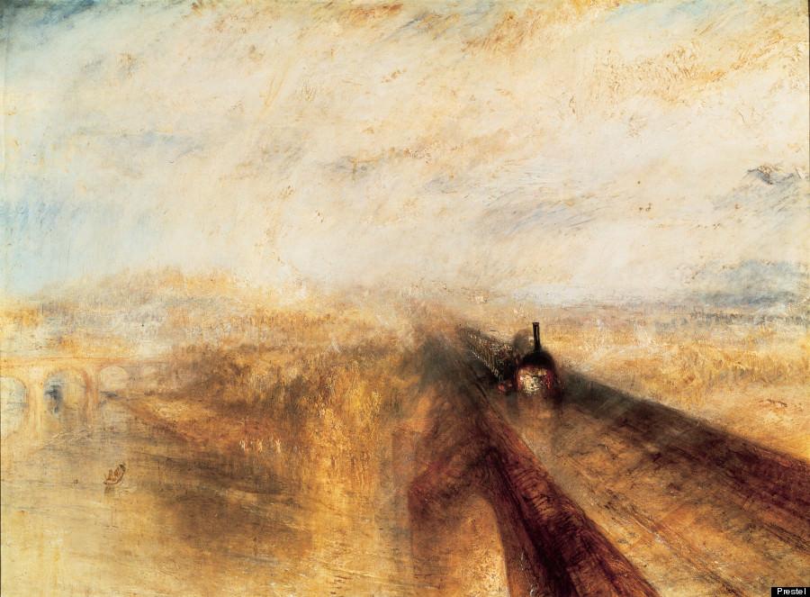 Joseph Mallord William Turner « Pluie, vapeur et vitesse – La grand voie ferrée de l'ouest » (1884)