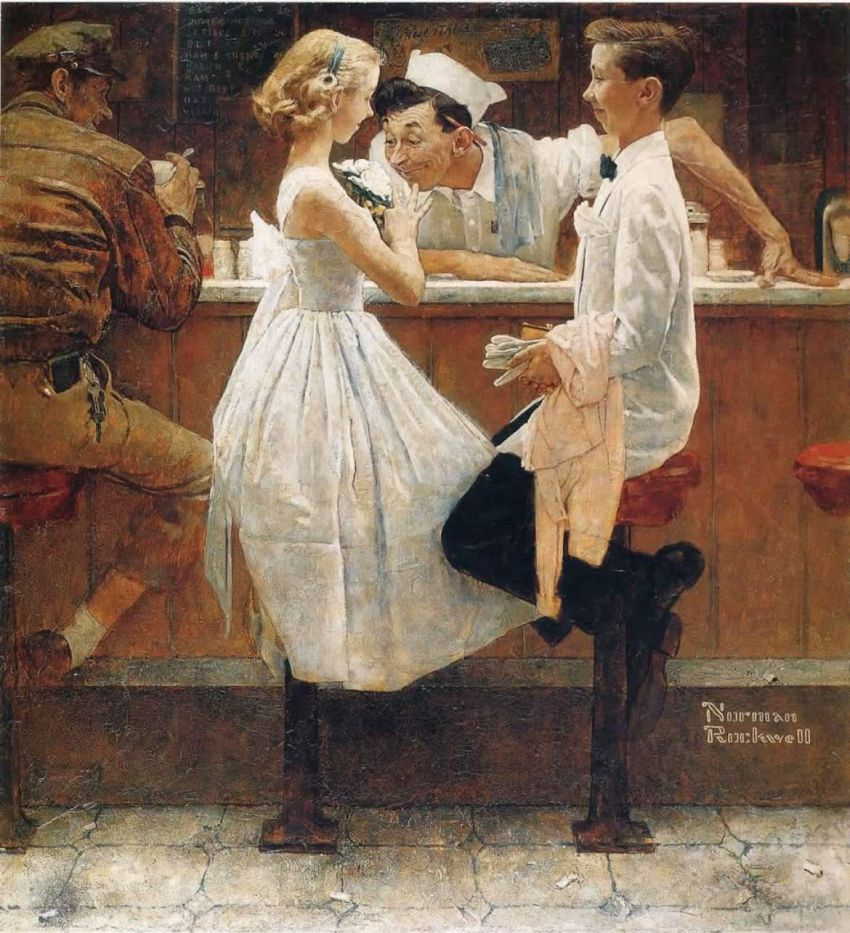 Norman Rockwell, After the prom fait un malheur chez Sotheby's