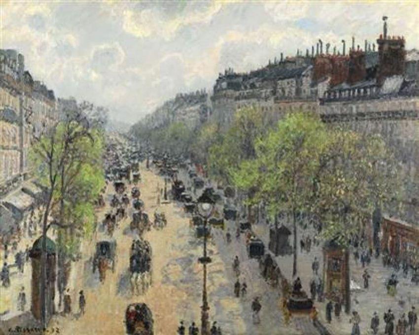 Camille Pissarro « Boulevard Montmartre, matinée de printemps » (1897) en vente aux enchères