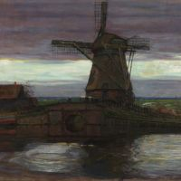 Acquisition de Mondrian, Stammer Mill with Streaked sky (Moulin à vent avec ciel strié) en l'honneur d'Henry Bloch