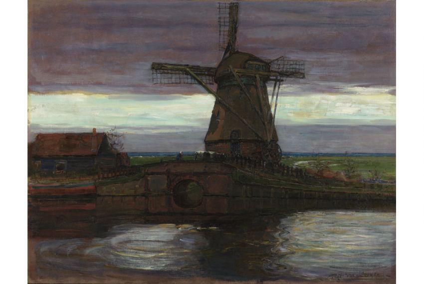 Acquisition de Mondrian, Stammer Mill with Streaked sky (Moulin à vent avec ciel strié) en l'honneur d'Henry Bloch