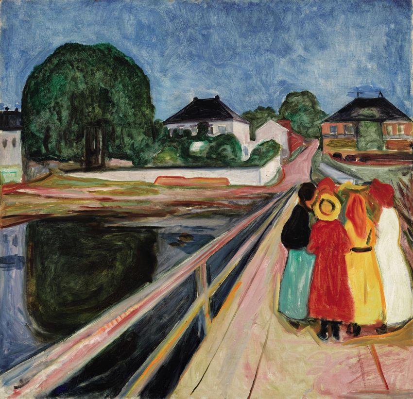 Sotheby's révèle Munch, Filles sur le pont
