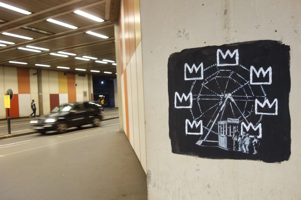 la grande roue de Banksy pour Basquiat