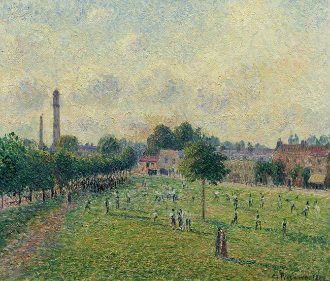 Pissarro, Kew green - Tableau du parc Kew Green - 1892