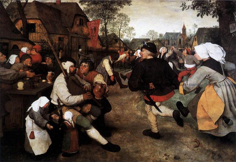 Tableau Reproduction De Bruegel La Danse Paysanne