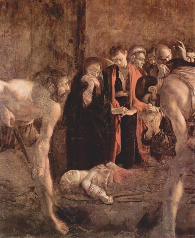 Caravage, L'Enterrement de sainte Lucie