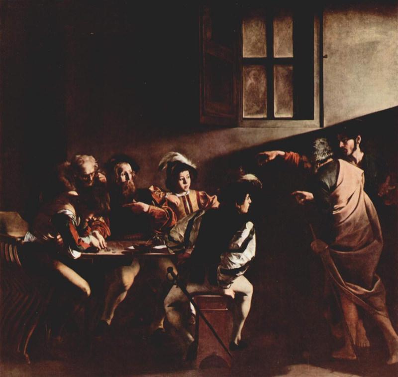 Caravage, La Vocation de saint Matthieu