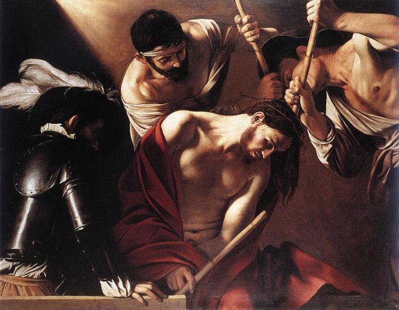Caravage, Le Couronnement d'épines - 1603
