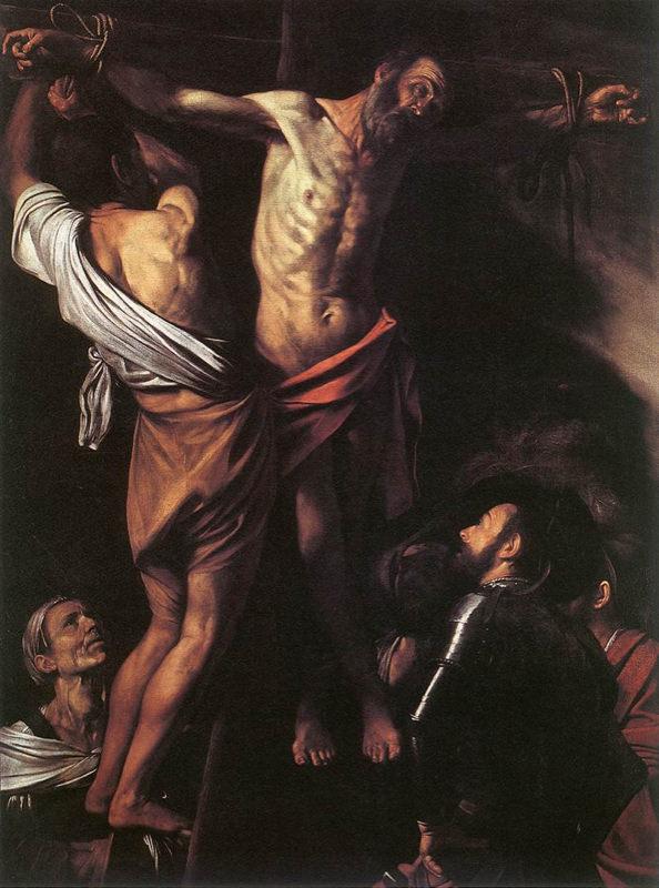Caravage, Le Crucifiement de saint André