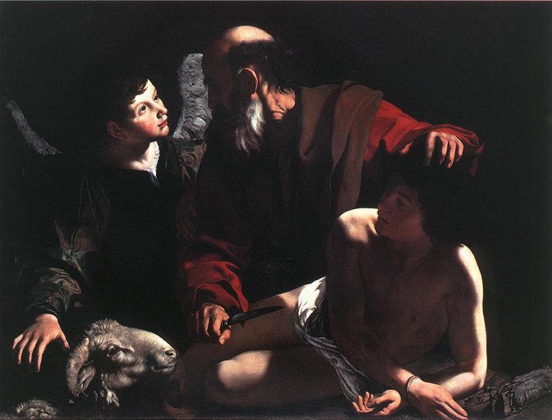 Caravage, Le Sacrifice d'Isaac - 1598