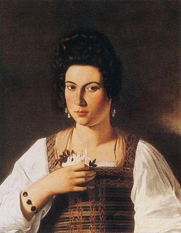 Caravage, Portrait d'une courtisane