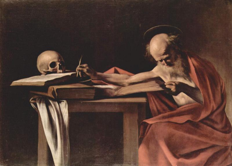 Caravage, Saint Jérôme écrivant - 1605