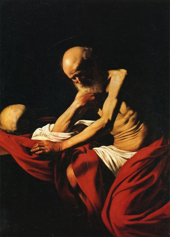 Caravage, Saint Jérôme en méditation